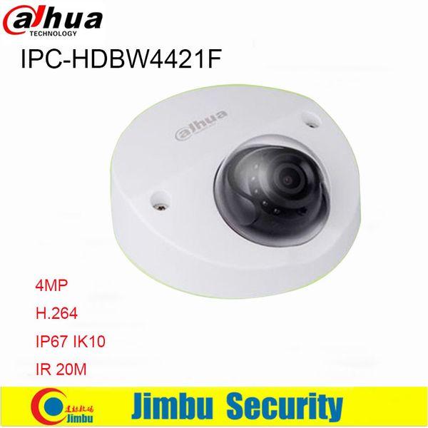 Dahua 4MP IP Camera POE DH-IPC-HDBW4421F IP67 IK10 H.264 scan CMOS Support Onvif IR distance 20m IPC-HDBW4421F