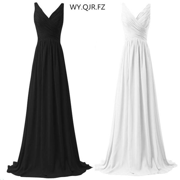 LLY1130B # v yaka spagetti sapanlar uzun lace up beyaz siyah gelinlik modelleri düğün parti balo dress 2018 gelin bayanlar