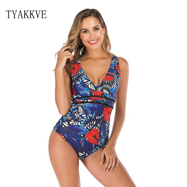 2019 Sexy Tankini Swimsuit Women Plus Size Swimwear Retro Swimwear Floral Bathuit SwimSuit maillot de bain femme Bikini XXL