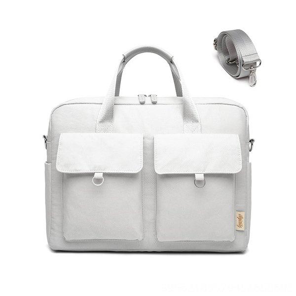 022-Doble bolsillo hombro del ordenador portátil del bolso gr