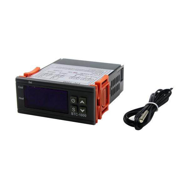 top popular LED Digital Temperature Controller STC-1000 12V 12V 24V 220V Thermostat Thermostat and Heater Cooler Control 2021