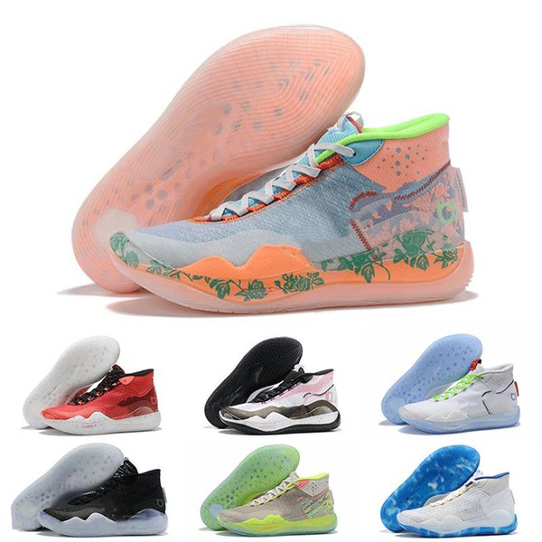 KD 12 EYBL Orange Schaum Pink Paranoid Oreo ICE Designer Basketball Schuhe Kevin Durant XII KD12 Mens Sports