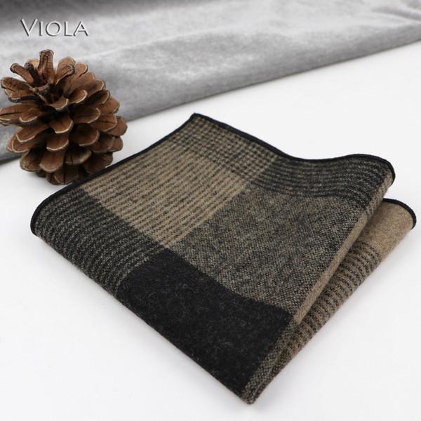 [56 Styles] Classy Solid Plaid 50% lana Fazzoletto Men Suit Hankies Banchetto Pochette Tuxedo Bow Tie regalo Autunno Inverno