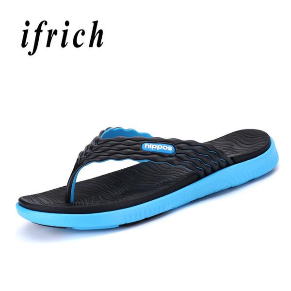 Original Men Blue Red Flat Flip Flops Anti-Slip Men Slippers Weight Light Male Summer Beach Shoes Comfortable Slippers Outdoor