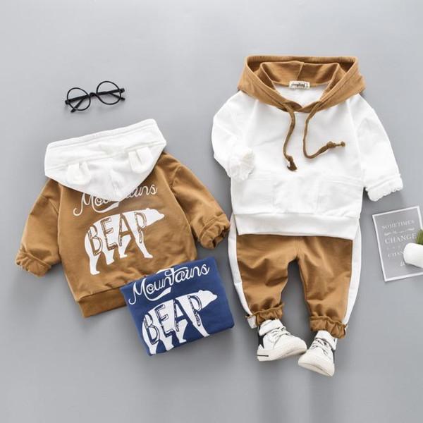 Baby Girls Boys Clothing Sets Toddler Children Clothes Suits Polar bear Coats T Shirt Pants Infant Kids Costume