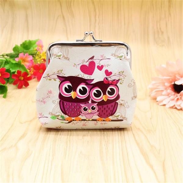 AOTIAN New Retro Women Print Owl Wallet Cute Lady Mini Coin Purse Bolt Clutch Bag Small Handbags drop shipping Gifts A30