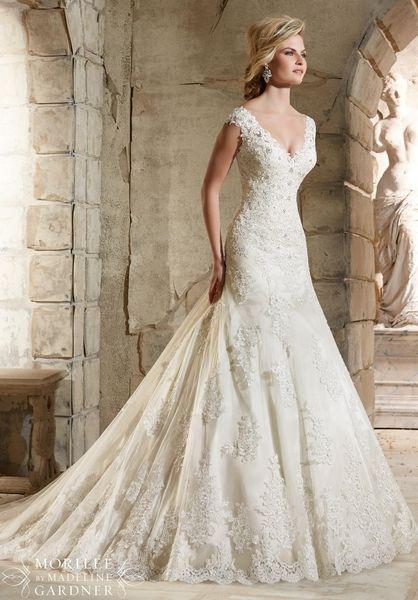 2019 NEW HOT CHeap Dress High Quality Dress V Neck Sleeveless Beads Zipper Lace Sleeveless Bridal Wedding Dresses