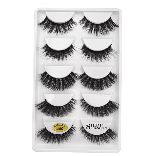 New 3D mink eyelashes 5 pairs loaded mixed thick false eyelashes beauty tools G807 Free ship 10