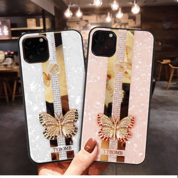 Luxury bling rhine tone diamond hybrid oft tpu pc glitter phone ca e for iphone 11 pro max 11 pro x x xr x max 7 8 plu fa hion cover