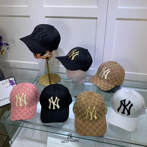 Designer hat NY Yankees cricket cap small basin hat three-dimensional gold embroidery decoration 19 luxury fashion accessories original pa