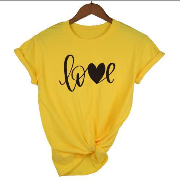yellow t black words