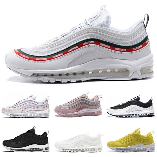 Hot Air 97 Shoes south beach Premium Silver Bullet 97s Triple White Balck Metallic pink yellow mens womens maxes shoes Sports Sneaker