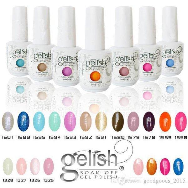 Massima qualità Harmony Gelish 440 colori 15ml Gel Polish Accessori per unghie Gel per colori UV Soak Off Gel per unghie per Fedex b331