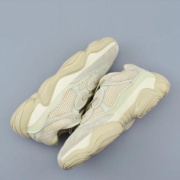 Desert Rat 500 Running berühmte Marken Schuhe Moon Yellow Black Blush 2019 Designer Herren Damen Sneakers Trainer Rindsleder 3M Reflective L24