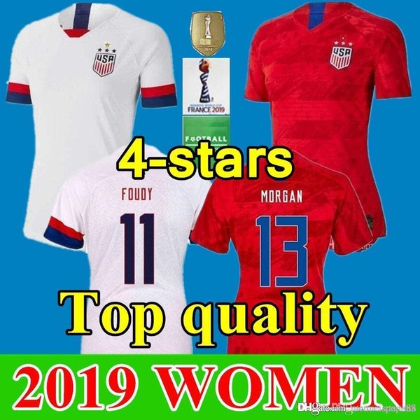 huge discount c9851 3ed85 2019 2019 Girls Women 13 Alex Morgan Jersey Soccer 8 Julie Ertz 10 Carli  Lloyd Lady Crystal Dunn Rapinoe Harris Heath Football Shirt From Tdsports,  ...