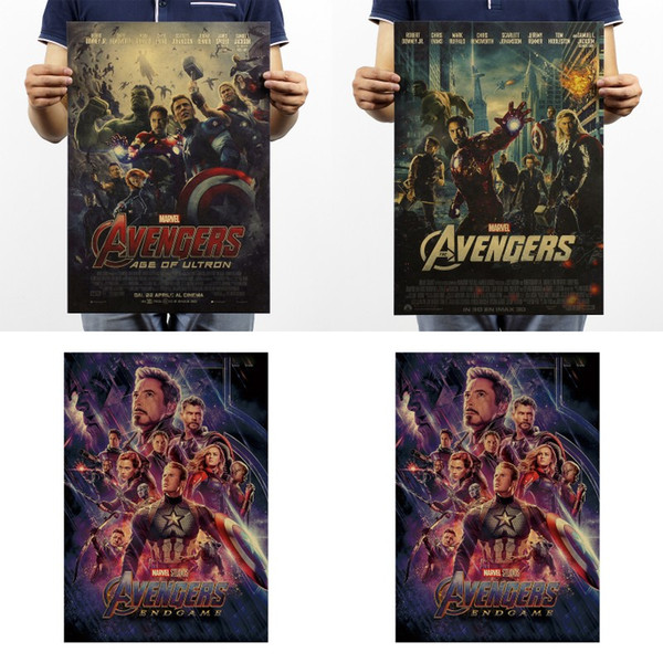 Avengers Union Vintage Paper Posters Manwei Graphic Printing Kraft Paper Posters Wall Painting Bedroom Decor Hot Selling 0 9zy L1