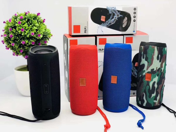 top popular Flip5 Portable Wireless Bluetooth Speaker Flip 5 Mini Audio Waterproof Speakers 1200mAh Battery Supports Multiple Subwoofer Player 2019