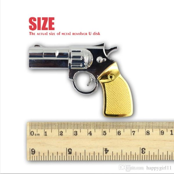 Factory price New Real Capacity Pendrive Gun Shaped 16GB 32GB USB Flash Drive 16 32 64 GB Stick Flash Memory Disk Pen Drive U78