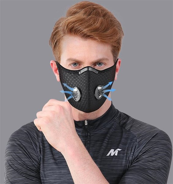 in stock face mask 3 layer ear-loop dust mouth er 3-ply non-woven dust mask soft maschera breathable outdoor #qa596, Black