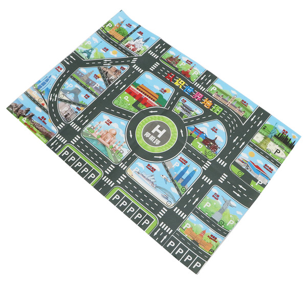 top popular World Map Traffic Road Carpet Playmat Rug For Cars & Train Game Toys Baby Children Educational Play Mat For Bedroom Play Room Game 2021