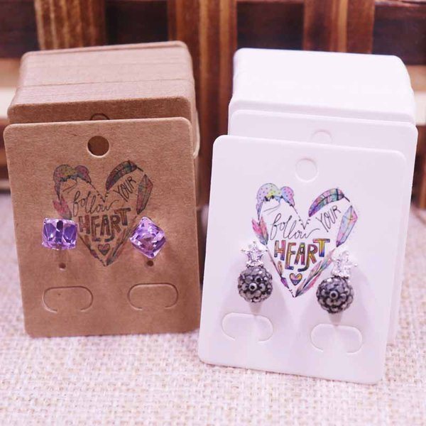2019 New Diy Jewelry Display Card Earring 4x5cm Earring Card Hang Tag Diy Jewelry Stud Package Cards From Wonderline2 36 4 Dhgate Com