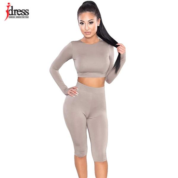 IDress Women Two Piece Bodycon Jumpsuit Playsuit 2016 Summer Knee Length Black Bodysuit Sexy Club Elegant Rompers Women Jumpsuit