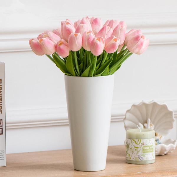 FEIS hotsale alta imitação PU em miniatura tulipa flor do casamento decoração de casa acessório do casamento noiva e da dama de honra buquê