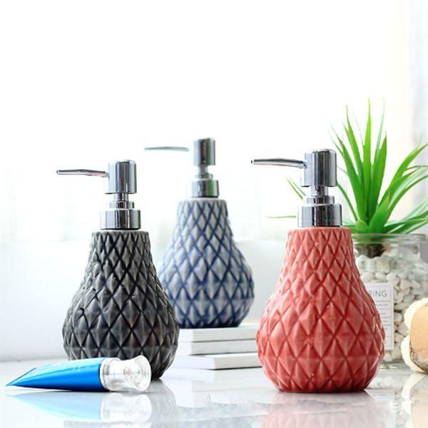 400ML Ceramics Hand Pump Liquid Soap Dispenser Plastic Bathroom Hotel Liquid Soap Foam Bottle Clear Foam Make Up Shampoo Lotion Containers