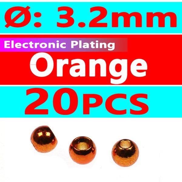 20pcs Orange 3.2mm