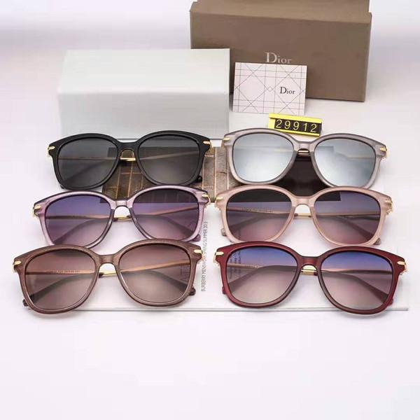 1 stücke Mode Runde Sonnenbrille Eyewear Sonnenbrille Designer Marke Schwarz Metallrahmen Dark 50mm Glaslinsen Für Mens Womens Besser Braun Fällen
