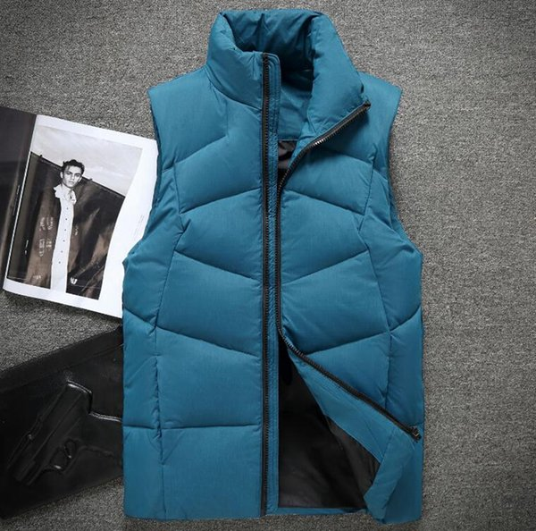 Men's Korean version of the trend special personality fashion boutique handsome thickened loose autumn and winter new down jacket vest M-2XL
