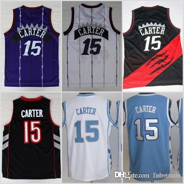 wholesale dealer 3b541 a53ec 2019 Toronto New 15 Carter Raptors Vince Basketball Jerseys North Carolina  Tar Heels College Carter Jersey Vince Blue Black White Purple From Fair ...
