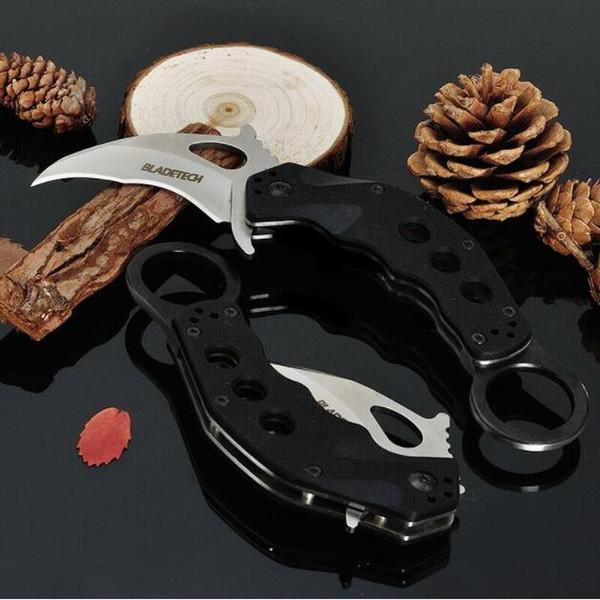 Blade-Tech Rip Tide karambit Claw Knife AUS-8 blade G10 mango claw mini claw camping supervivencia cuchillos Navidad regalo cuchillo Adco