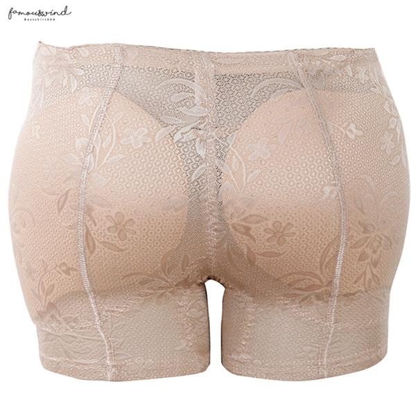 Butt Butt et de la hanche Enhancer Booty rembourré Sous-vêtements Culottes Body Shaper Femmes sans couture Lifter rayé Panty Boyshorts amincissants