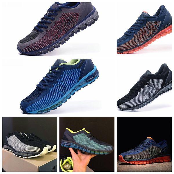 2019 Asics New Gel Quantum 360 TN Vamp Zapatillas De Running Para Hombre Negro Azul Rojo Gris Moda Zapatillas Deportivas Al Aire Libre De Bajo Tamaño