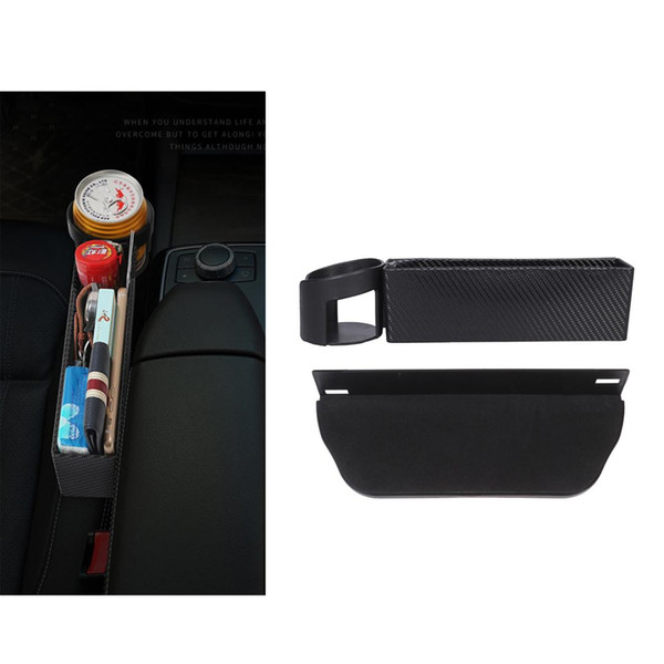 2pcs multifunctional car storage box car organizer seat side slit container pu leather storage case seat organizers boxes