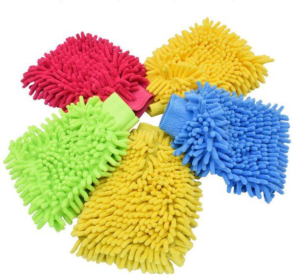 luva microfibra da lavagem de carros do luva da luva da lavagem da limpeza do carro do microfibre (SS-WT10)