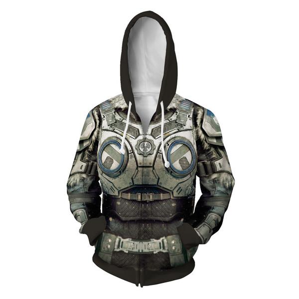 War Machine 5 3D printing zip cardigan sweater hooded sweater cospaly game around