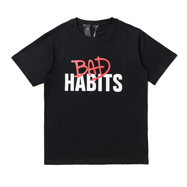 Vlone Nuovo arrivo Mens Designer T Shirt Streetwear Uomo Donna Hip Hop Maniche corte Mens Designer Tees Stampa lettere