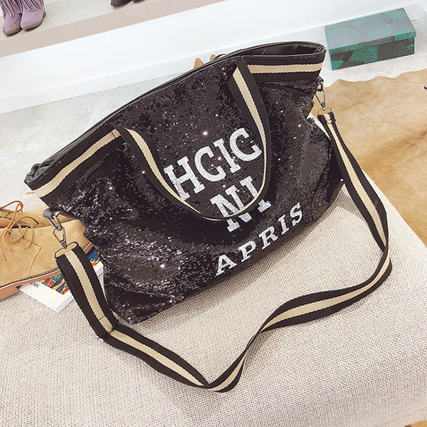 Lovely2019 Will Joker Concise Capacity Paillette Support Special Package More Function Letter Single Shoulder Handbag