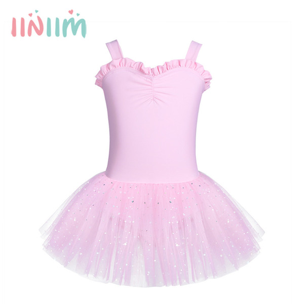 4 Color Kids Girls Sleeveless Ruffled Sweetheart Ballet Dance Gymnastics Leotard Tutu Dress Costume Party for 2-8 Years