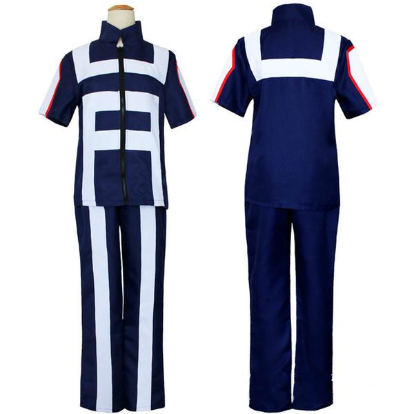 top popular JP Anime Boku no Hero Bakugou Katsuki Iida Tenya Todoroki Shouto Cosplay Costume My Hero Academia Sportswear Tops+Pants 2020