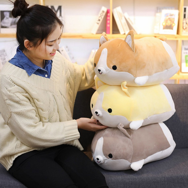 Corgi Dog Plush Toys For Children Cute Cartoon Cotton Stuffed Soft Animal Pillow Sleeping Siting Lovely Gift Baby Cushion Toys