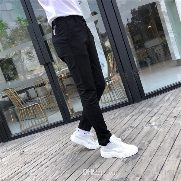 19ss Mengkou MC Paris Ice Cotton Long Pants elastic waist track Trousers Men Fashion sport Jogger Casual Sweatpants Outdoor Pants