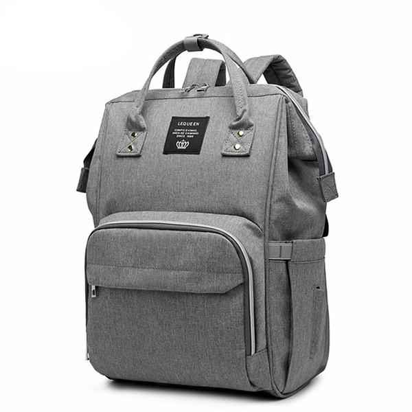 LEQUEEN Bolso para pañales de color puro Momia Baby Care Nappy Bag 44 CM de gran capacidad impermeable mochila de viaje bolsa de enfermera para bebé