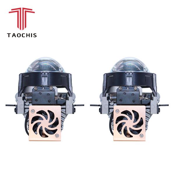 TAOCHIS Auto Car Styling 2.5 inch Bi-LED projector lens LED Head light Lens Retrofit upgrade Universal Fast bright