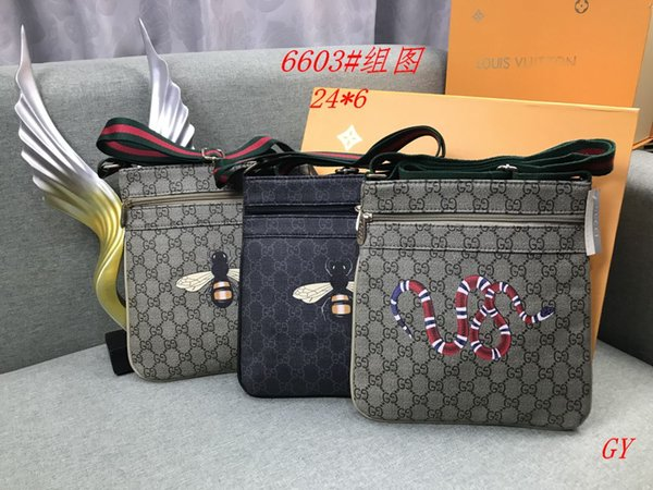 GY MK6603 # Bester Preis Qualität Handtasche Tote Schulter Rucksack Tasche Geldbörse Brieftasche, Clutch Bag Schulter, Männer Taschen