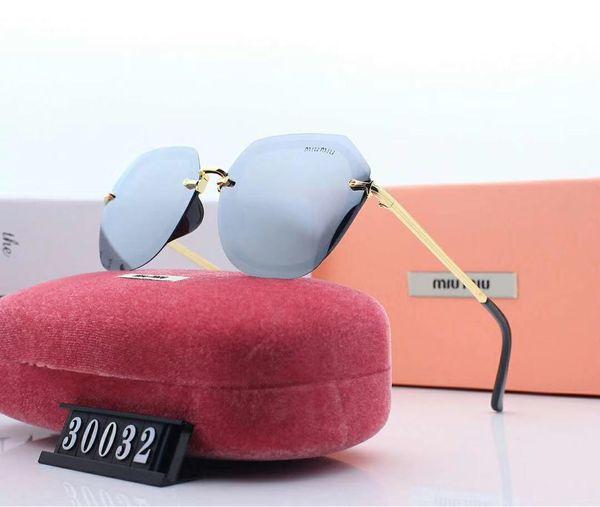 Дизайнерские солнцезащитные очки роскошные солнцезащитные очки бренд МОДА СТИЛЬ солнцезащитные очки женщин UV400 с коробкой и логотипом бренда пятиугольное моделирование 30032