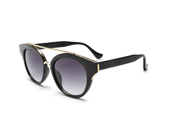 2019 New Exclusive brand logo 2347 sunglasses female vintage popular round full frame sun glasses fashion women shades glasses free box