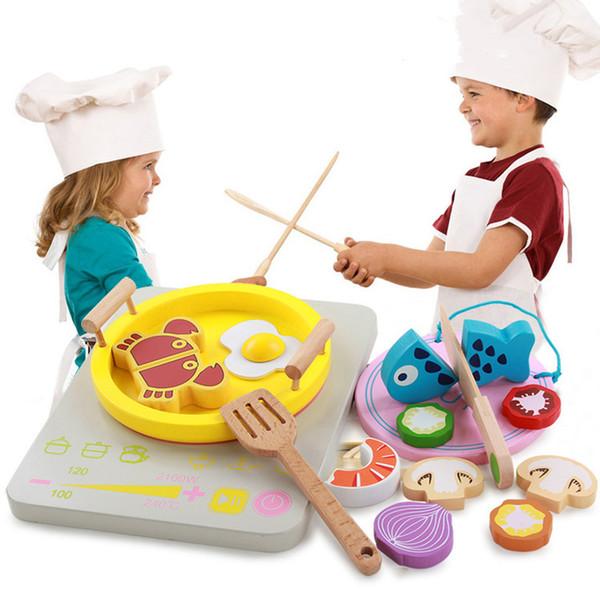 Maison de jeu pour enfants En Bois Cuisine Jouet Hot Pot Jouet Baguettes Clip Clip Musique Set Fille Cuisine Jouets Enfants Jouets Éducatifs
